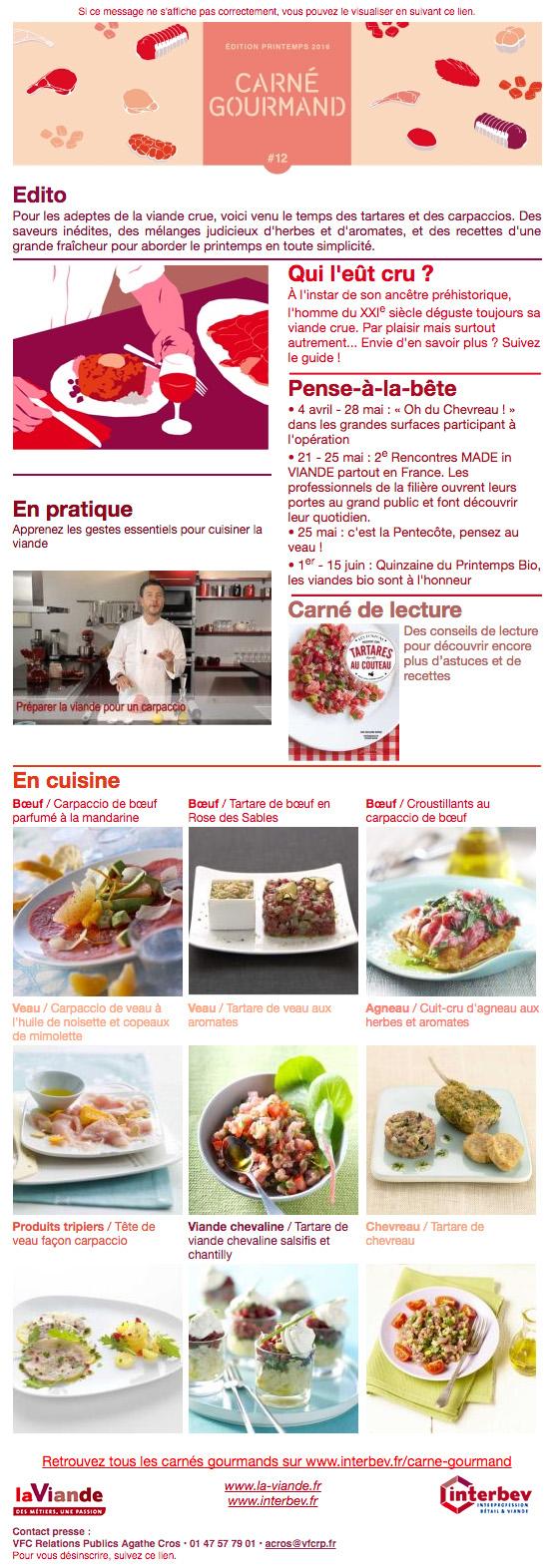Carné Gourmand 12 Printemps 2016