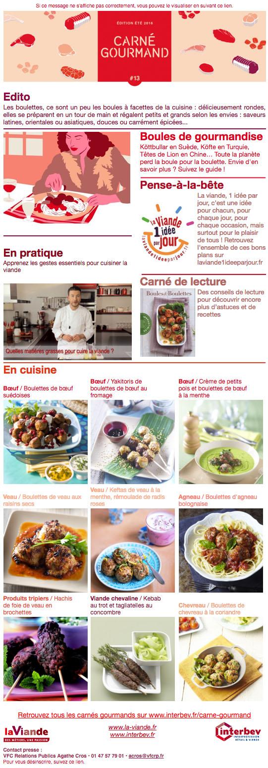 Carné Gourmand 13 Édition Été 2016